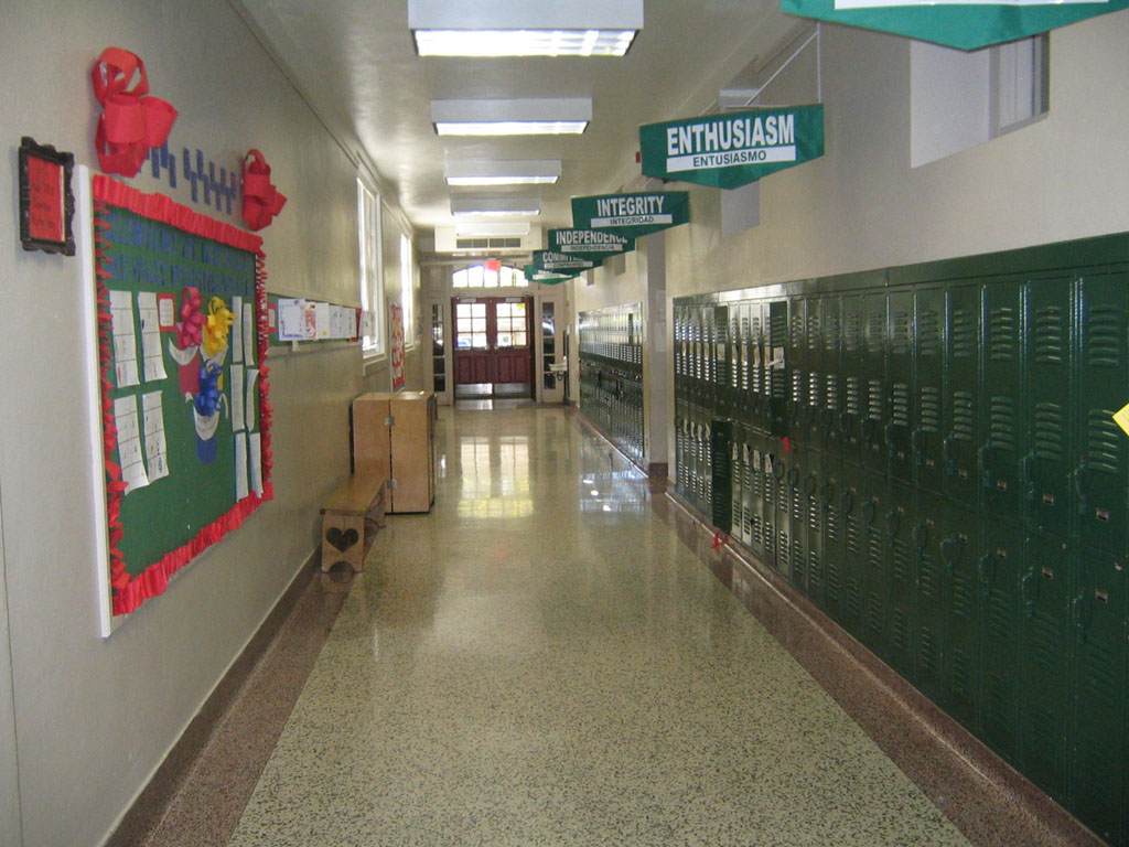 Pics For > Elementary School Hallway