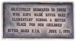 Dedication Plaque at River Oaks Elementry School